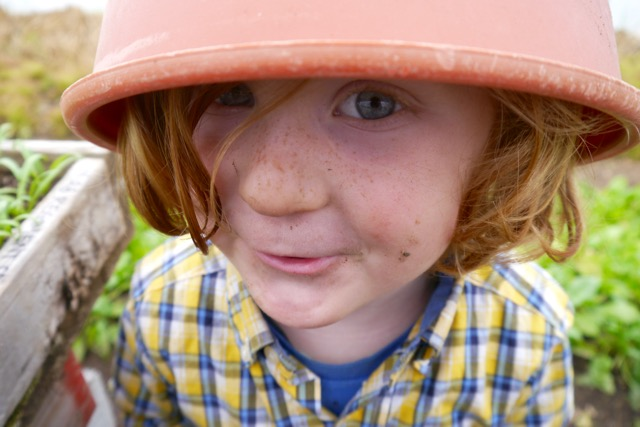 Waylon with flower pot on his head: why he loves growing an organic garden