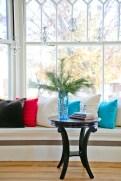 Photo of Window seat and mini votive chandeliers