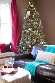 photo of living room and christmas tree