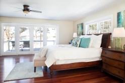 photo of master bedroom looking out toward ocean