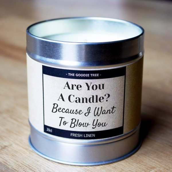 Are You A Candle? tin lid bottom