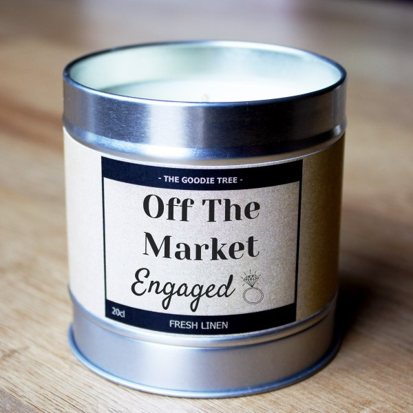 Off the market engaged tin lid bottom