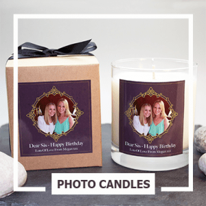 photo candles blue stone