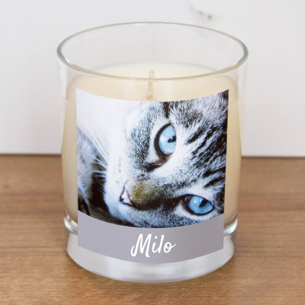Cat Photo Candle