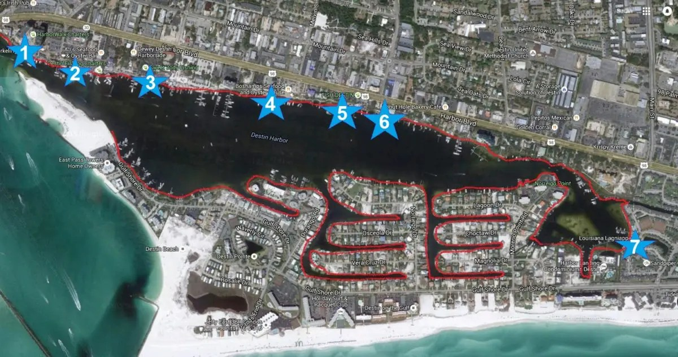 Skip The Traffic And Take The Destin Water Taxi The Good Life Destin - Florida map destin area