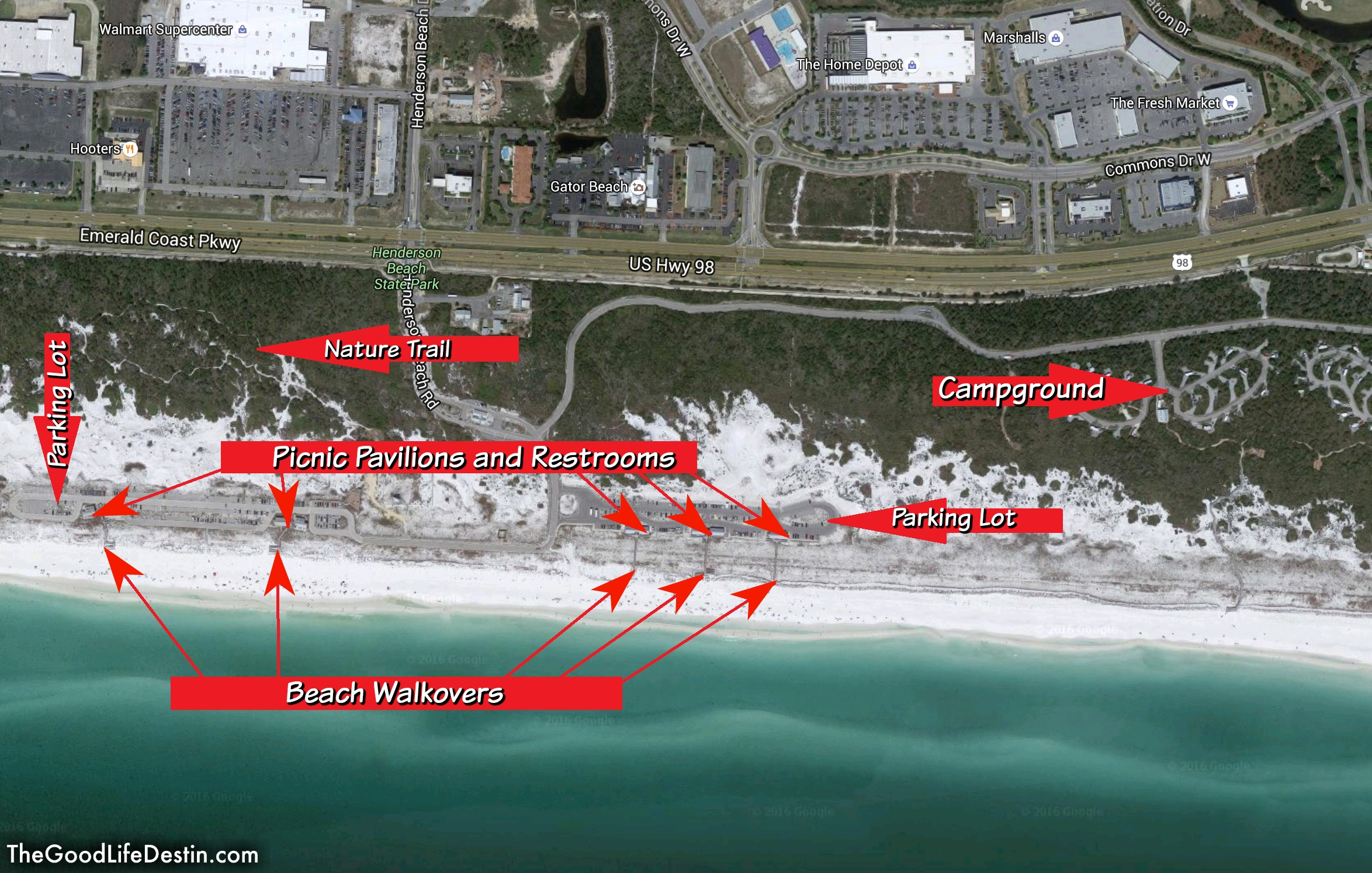 Find Your Perfect Beach In Destin Florida The Good Life Destin - Florida map state parks