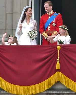 lily of the valley in Kate Middleton's wedding bouquet