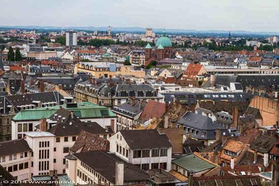 strasbourg aerial view