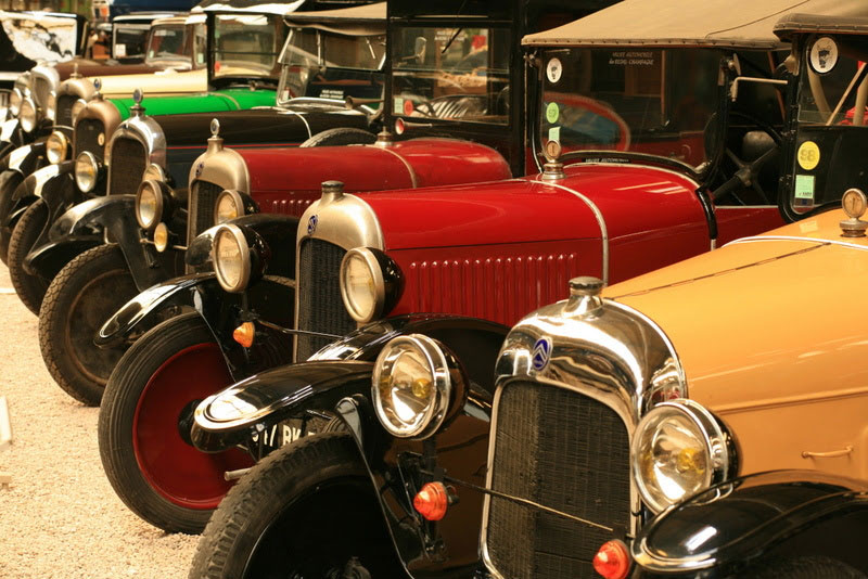 Ancient cars at the Car Museum Reims