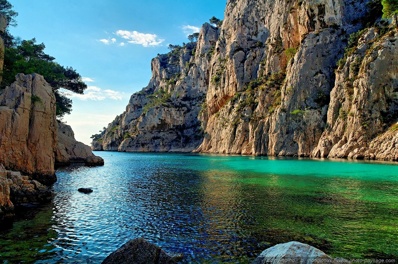 The Calanques, a series of beautiful creeks flanked by cliffs near Marseille