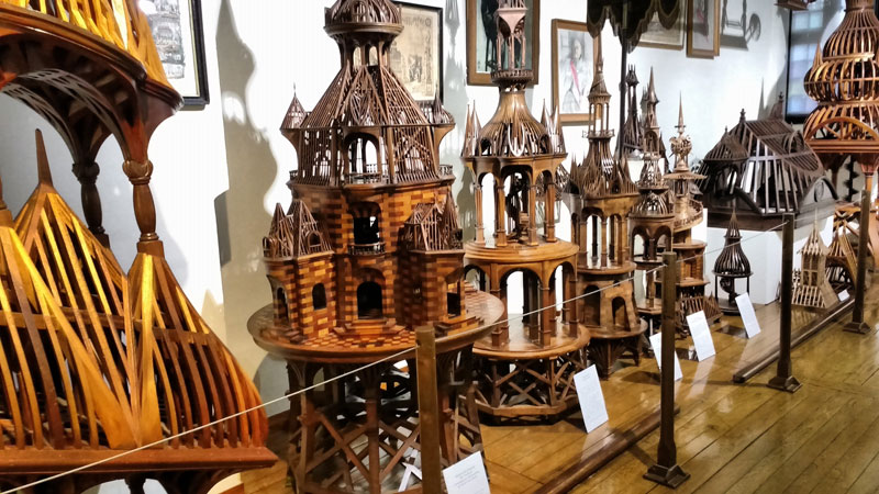 Wooden models created by french craftsmen to demonstrate their skill at carpentry