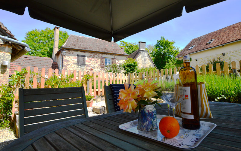 A gite in France with a beautiful garden