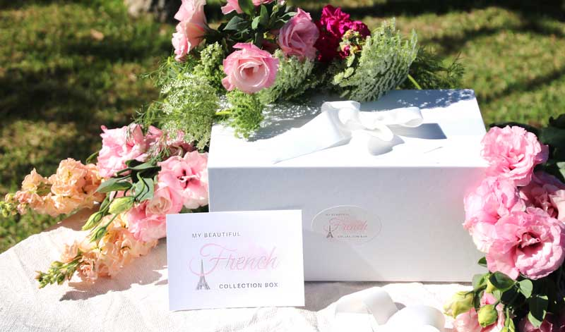 Beautiful gift box tied with ribbon