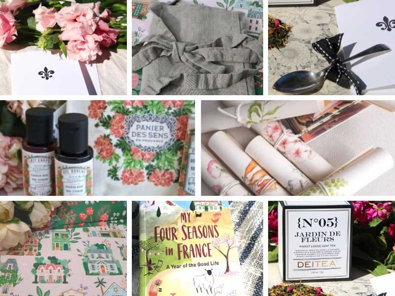 French beauty products and bags