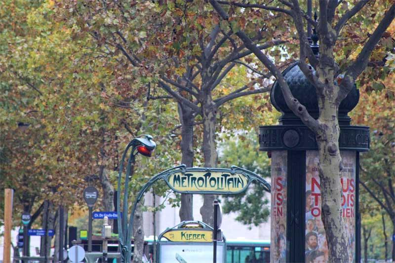 Quirky metro sign in Paris