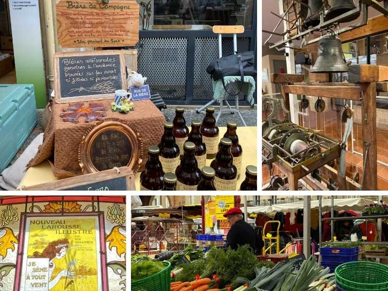 Market at L'Isle Jourdain, full of local and artisan products