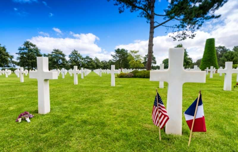 Field of crosses at the American Cemetery, Normandy