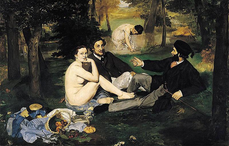Manet's painting Le Dejeuner sur l'Herbe