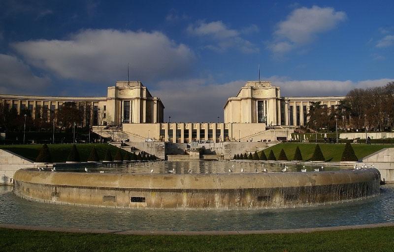 Art deco style building, monumental Palais Chaillot, Paris