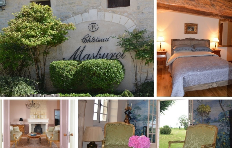 Rooms with antiques in the Chateau Masburel