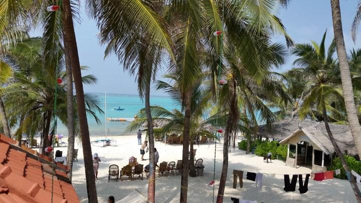 Government resort on Kavaratti island