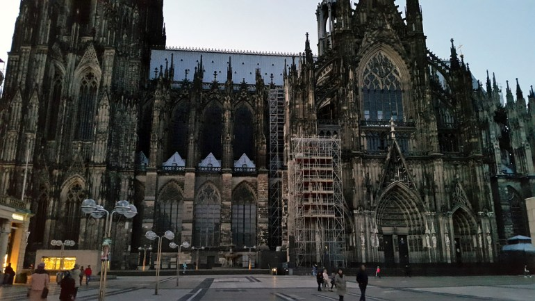 Side view of Cologne cathedral - A road trip through Germany, and other ways to pass the time (Part 1): Wuppertal and Cologne