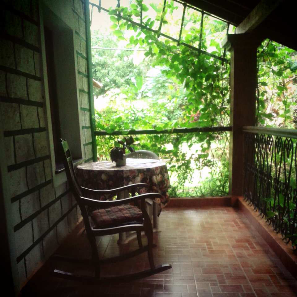Verandah at canio's House - An off-the-beaten-path Goan holiday