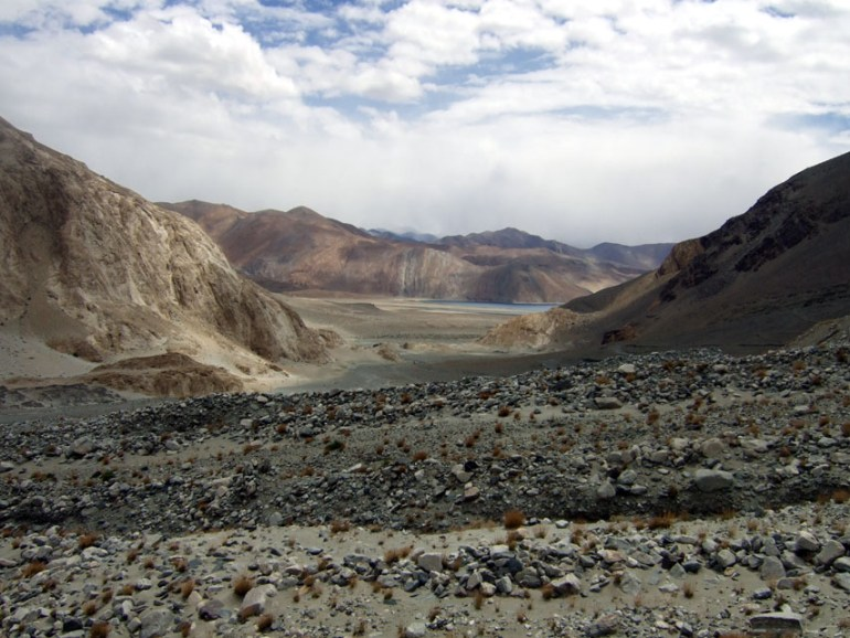 Leh - First view of Pangong Tso