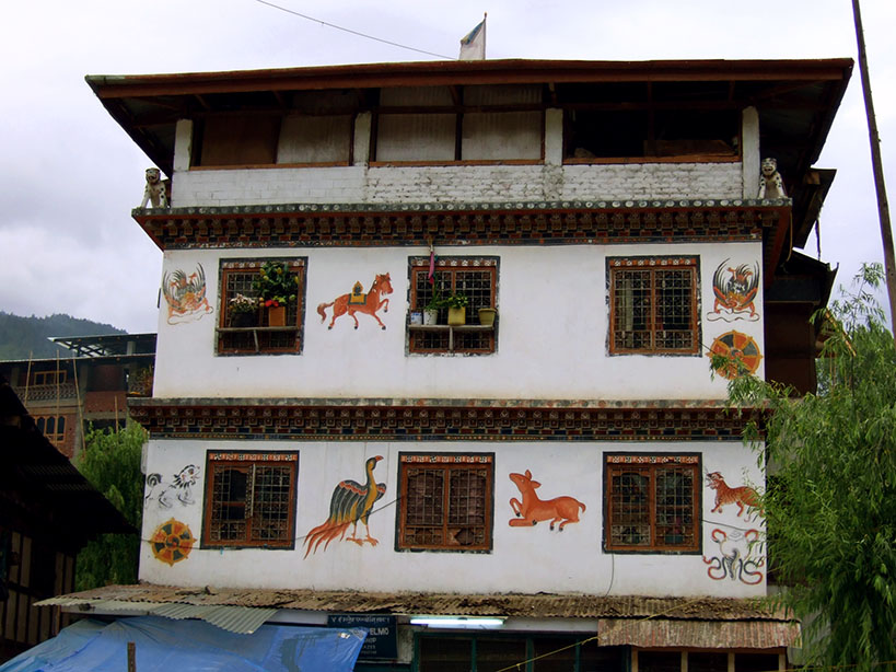 Bhutan - Decorated house
