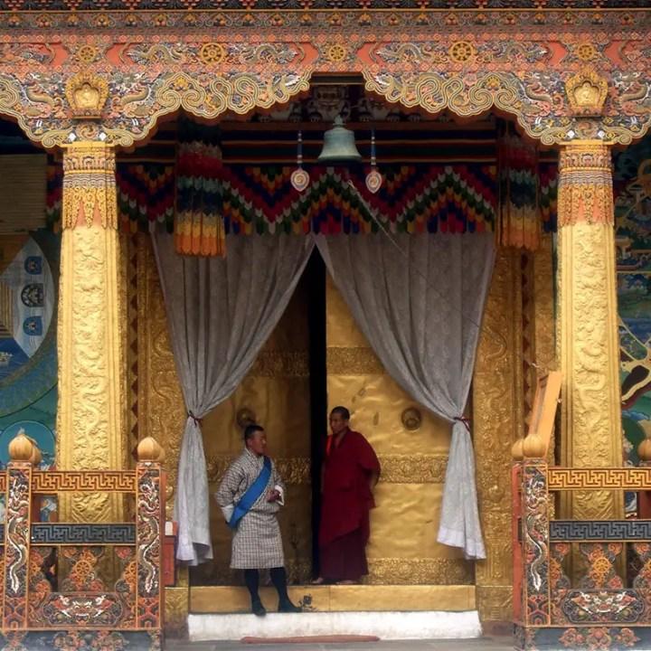 Bhutan - Punakha main hall entrance
