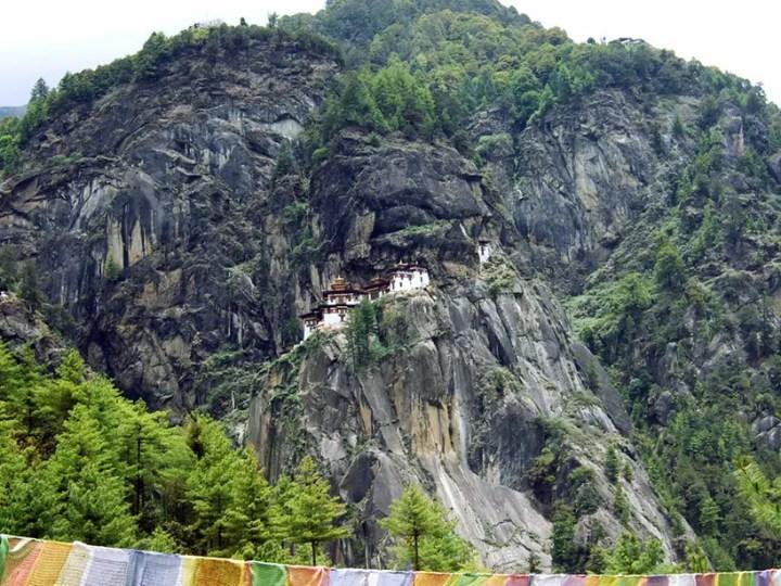 Bhutan - Takstang across the valley