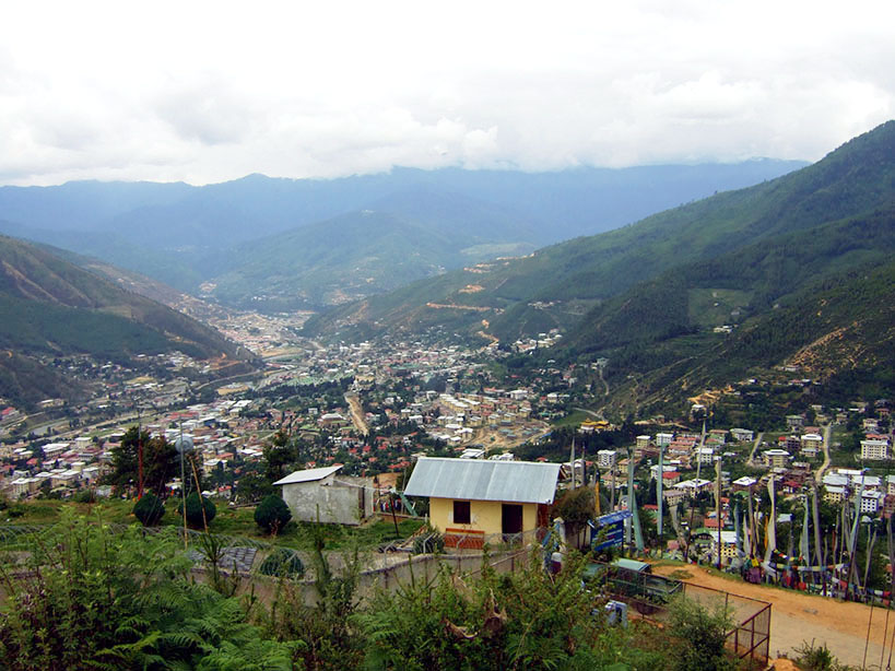 Bhutan - View of Thimphu