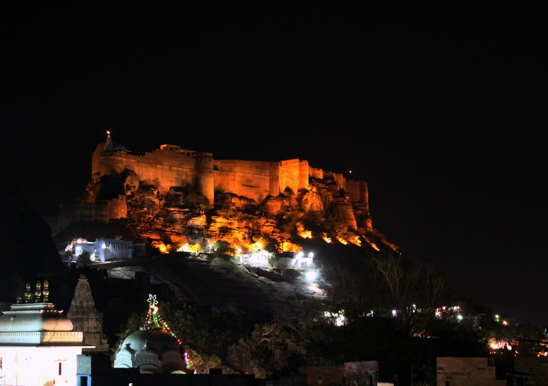 Jodhpur - Mehrangarh at night