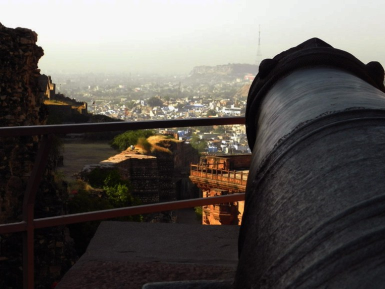 Mehrangarh - South facing cannon