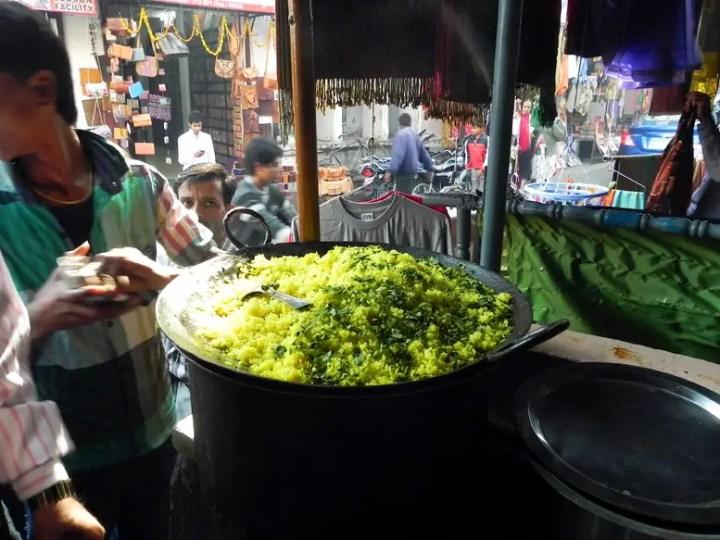 Poha at Radha Krishna restaurant, Udaipur