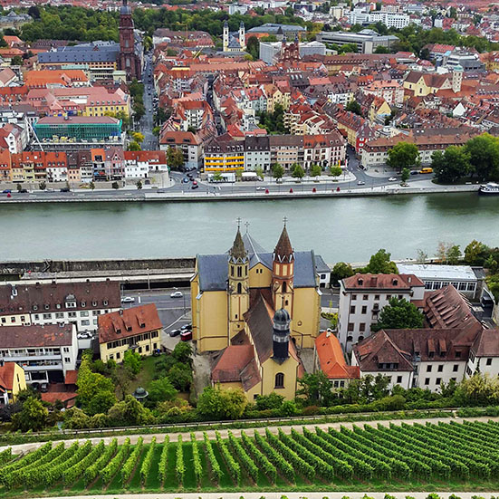 Wuerzburg - View from castle - town 1