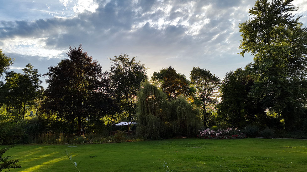 Garden sunset - Ainring, Salzburg and the Jenner: A road trip through Germany, and other ways to pass the time (Part 5)