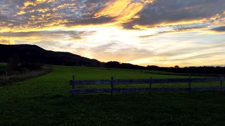 Sunset at Ainring, Bavaria, Germany - travel photos