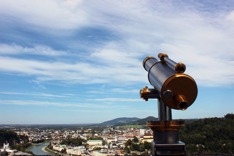 Fortress telescope - Ainring, Salzburg and the Jenner: A road trip through Germany, and other ways to pass the time (Part 5)