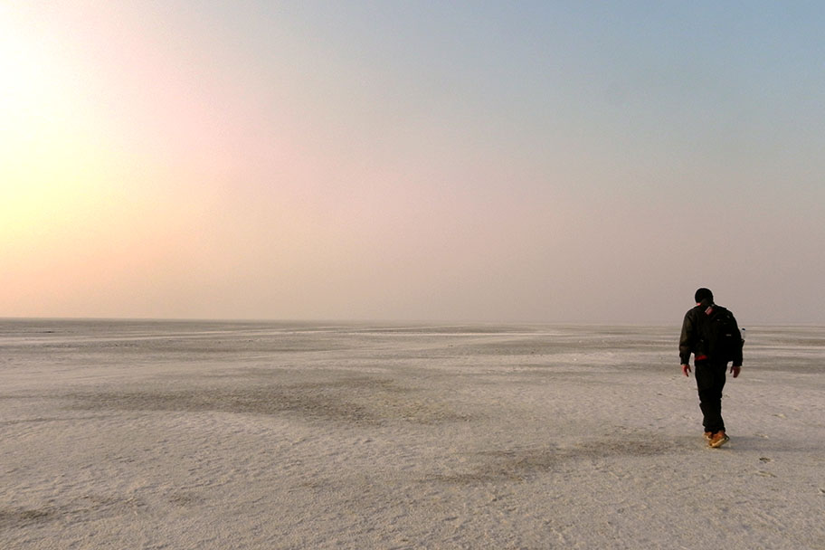 Salt desert in the Great Rann of Kutch, Gujarat, India - travel photos