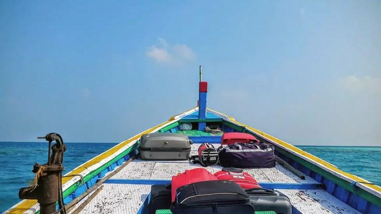 Boat ride to Bangaram island, Lakshadweep, India - travel photos