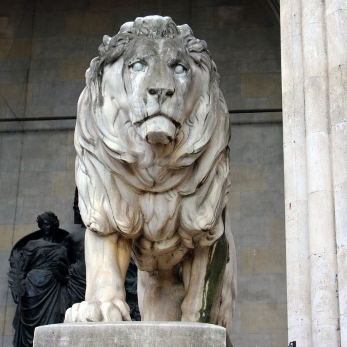 Munich - Lion at Feldherrnhalle - Munich and the Oktoberfest: Part 6 of A road trip through Germany, and other ways to pass the time