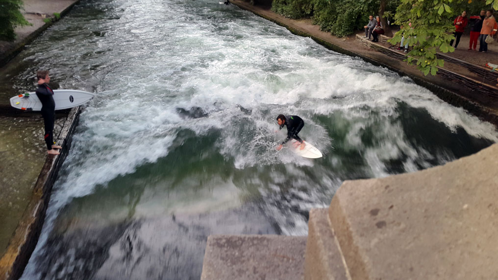 Munich - River surfer - Munich and the Oktoberfest: Part 6 of A road trip through Germany, and other ways to pass the time