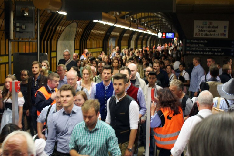 Munich - Subway crowds - Munich and the Oktoberfest: Part 6 of A road trip through Germany, and other ways to pass the time