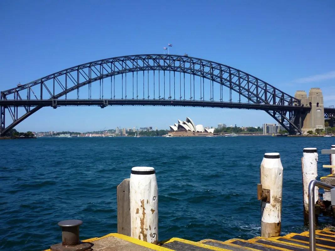 Sydney - bridge from ferry pier