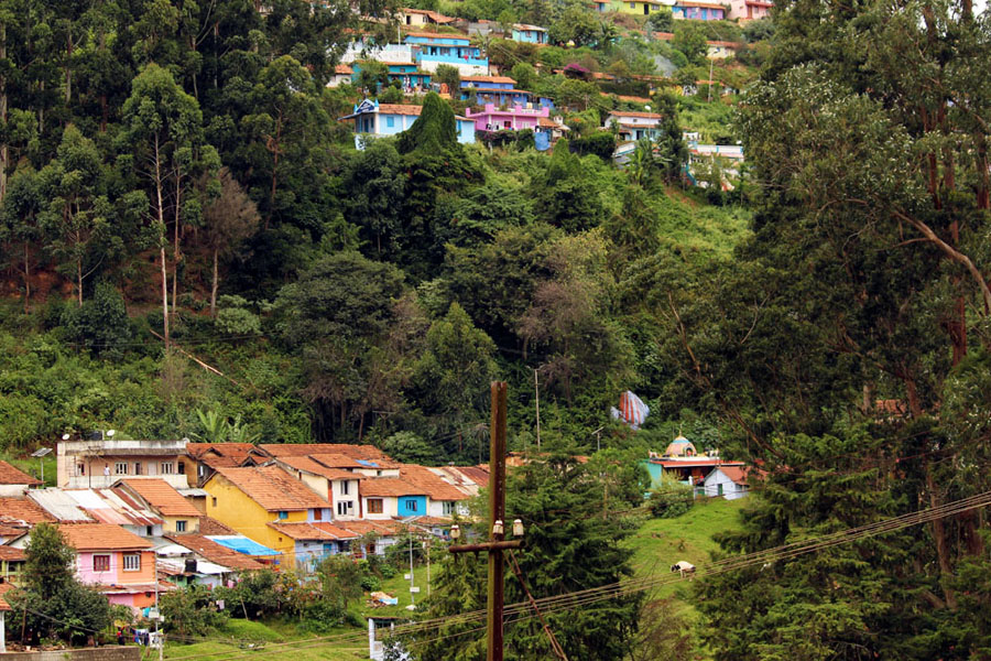 Coonoor - Wellington station hill houses