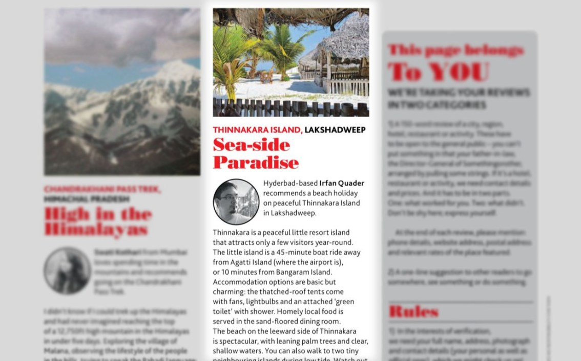 Yay! A review of mine's been published in Lonely Planet Magazine India