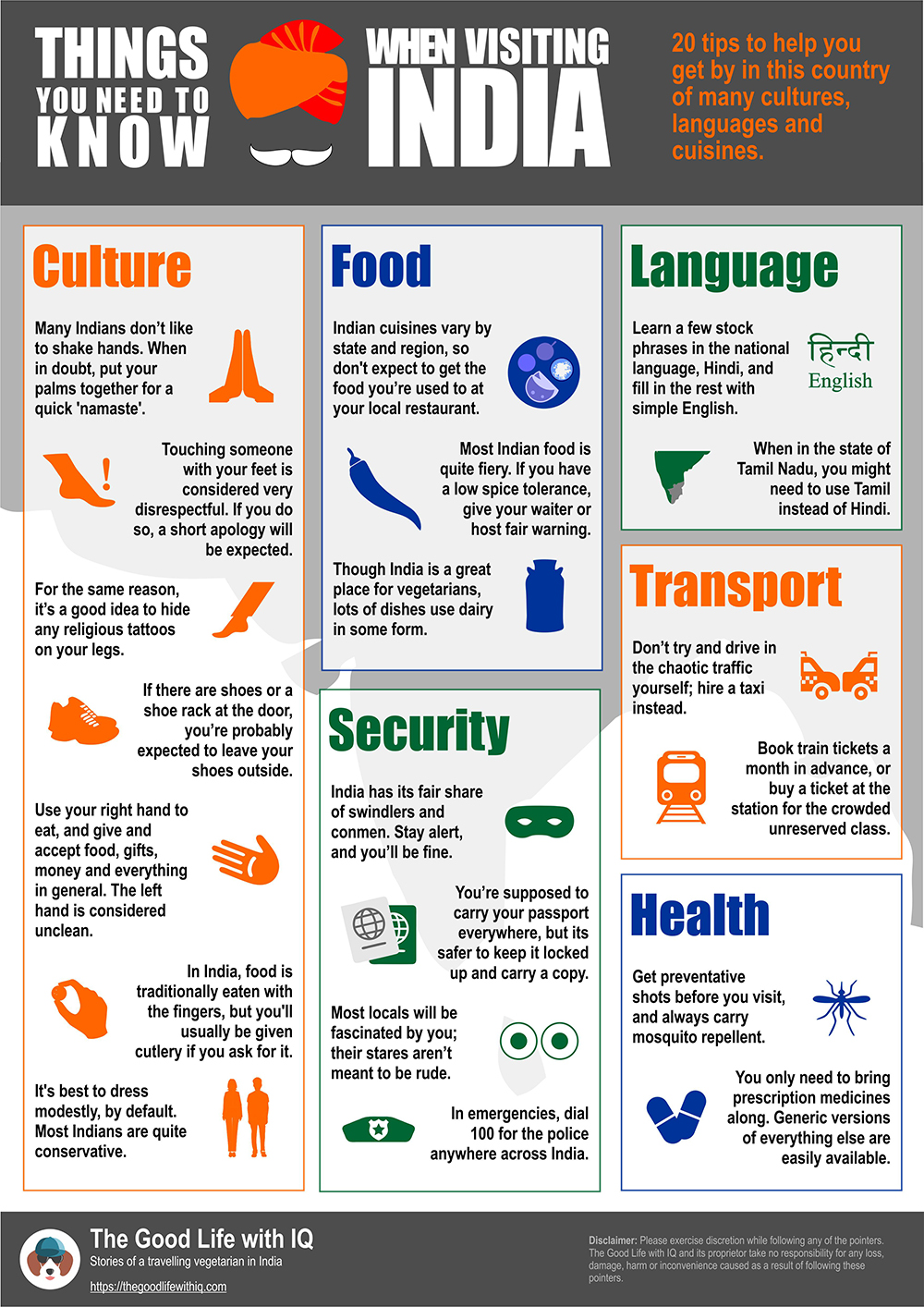 Infographic: 20 things you need to know when visiting India
