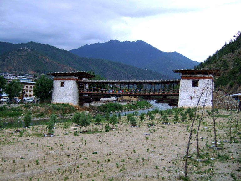 Bhutan - Market bridge