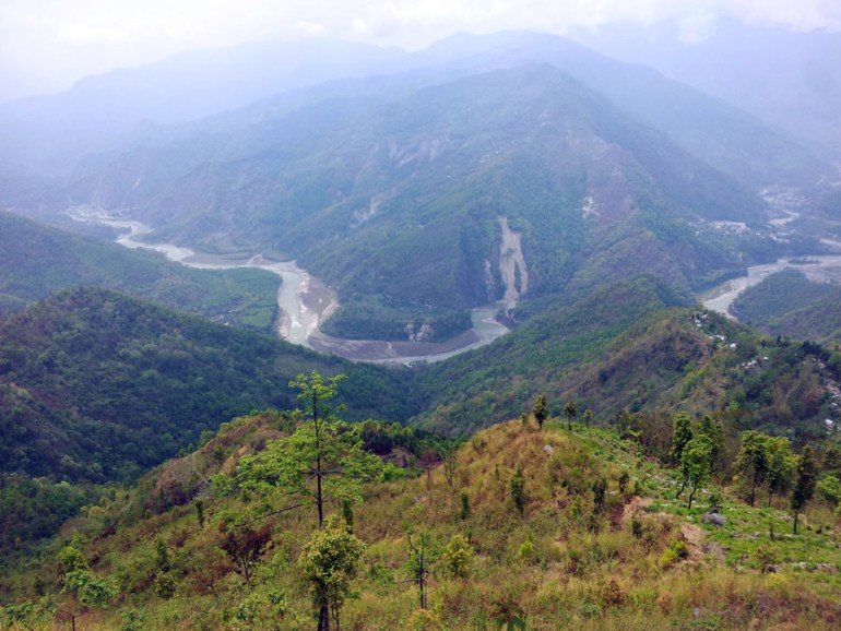 Kalimpong - View of river from road down